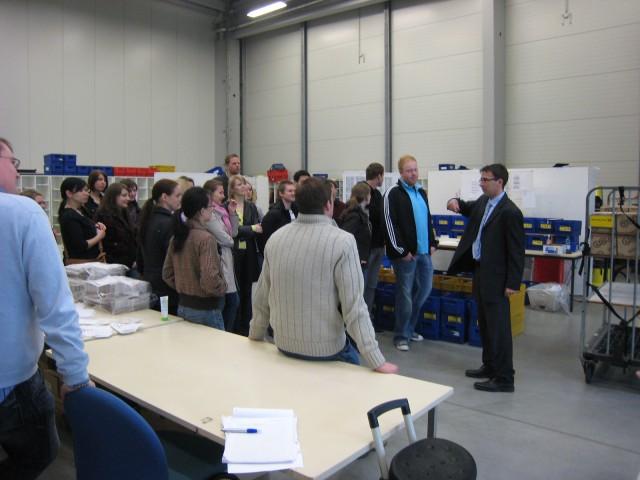 Einladung von Sascha Hoffmann, Leiter Logistik der Nordsee Zeitung zum Besuch des Citipost Verteilzentrums im Bremerhaven