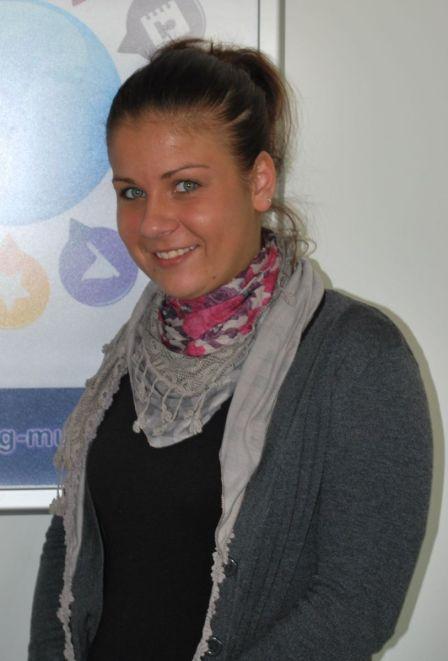 Wiebke Petereit im Labor Marketing und Multimedia (MuM) an der Hochschule Bremerhaven