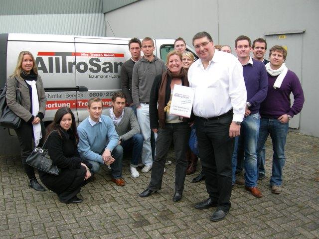 DAV-Projektgruppe mit Prof. Dr. Heike Simmet und Dr. Ernst J. Baumann zu Gast bei der AllTroSan GmbH, Ritterhude