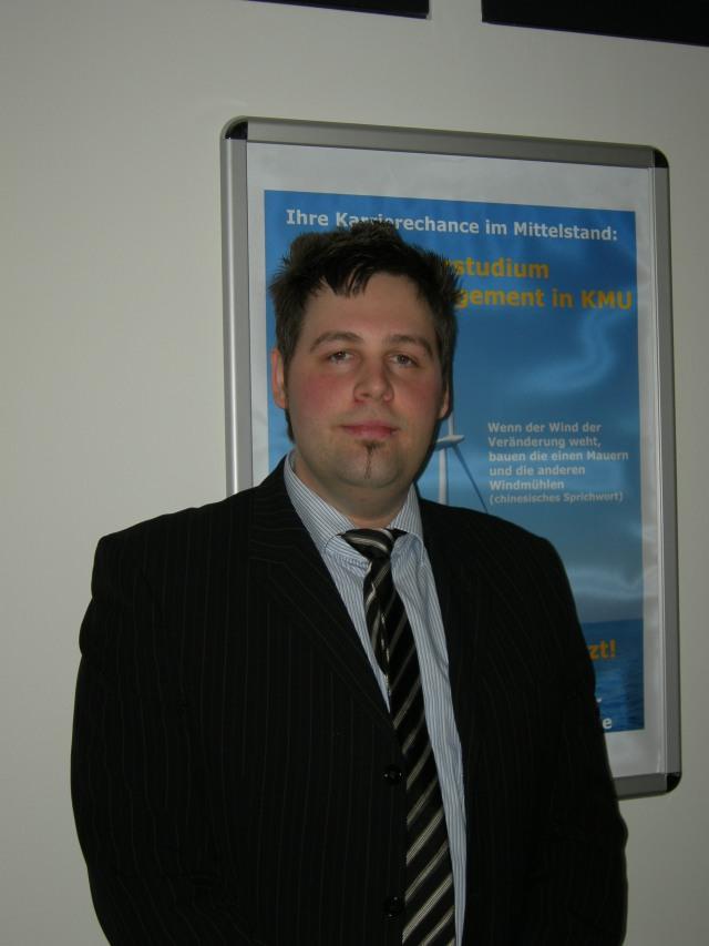 Sebastian Riemenschneider - Erster Master im Studiengang Change Management in KMU